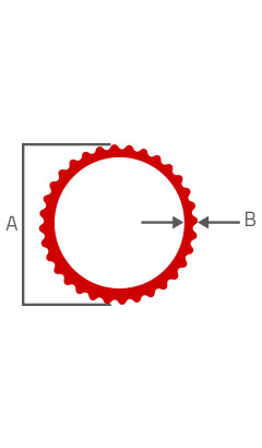 Desenho Tecnico do Produto Tubo Redondo Frisado