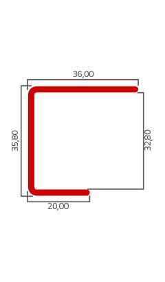 Desenho Tecnico do Produto PC 003 – Arremate Traseiro